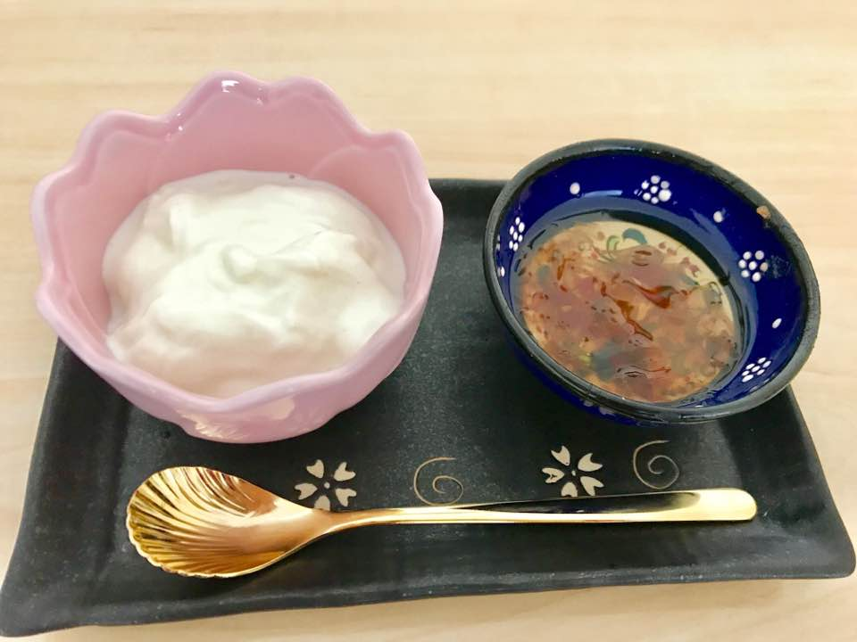 yogurt with turkish rose jam