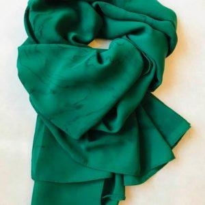墨流しシフォンスカーフ (グリーン)