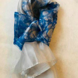 エブルオーガンジースカーフ (ブルーホワイト)
